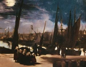 Manet, Boulogne, clair de lune, 1868