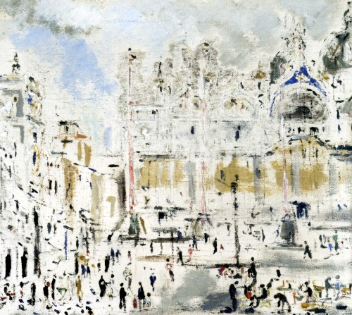 De Pisis, Piazza san Marco durante la guerra