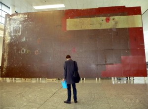 Dieter Roth, il pavimento dello studio, esposto a Milano