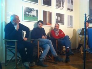 Da sinistra, Luca Andreoni, Antonio Ottomanelli, Marco Introini. Seminascosto, Massimo Ferrari