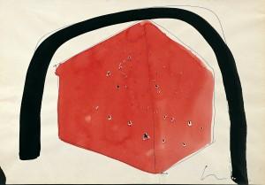 Lucio Fontana. Ambiente spaziale, 1960 (cm 22 x 32)